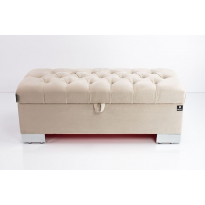 Kufer Pikowany CHESTERFIELD  Beż / Model Q-4 Rozmiary od 50 cm do 200 cm